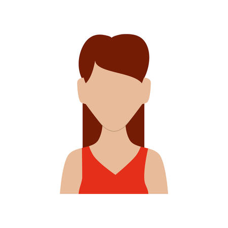 torso: Avatar female concept represented by woman head and torso icon. Isolated and flat illustration Illustration