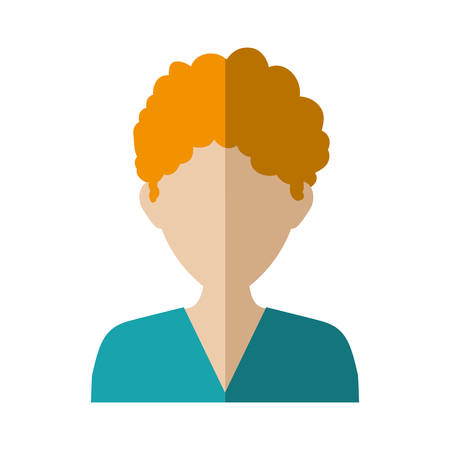 male torso: Avatar male concept represented by man head and torso icon. Isolated and flat illustration Illustration