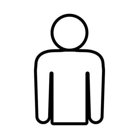 represented: Person concept represented by pictogram icon. Isolated and flat illustration