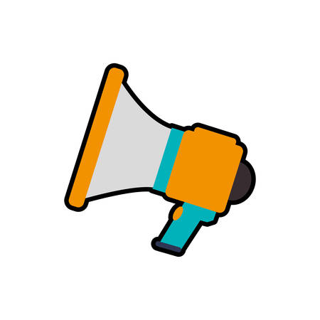 Communication concept represented by Megaphone icon. Isolated and flat illustration