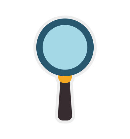 lupe: Search concept represented by lupe icon. Isolated and flat illustration Illustration