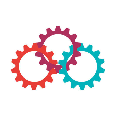 machine part: Machine part concept represented by gears icon. Isolated and flat illustration