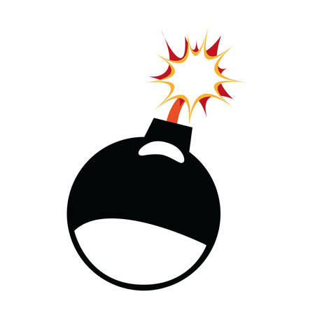 heavy risk: Explosion concept represented by bomb icon. Isolated and flat illustration Illustration