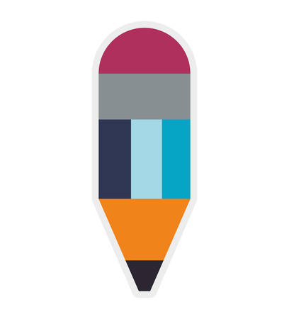 secretarial: Instrument to write concept represented by pencil icon. Isolated and flat illustration