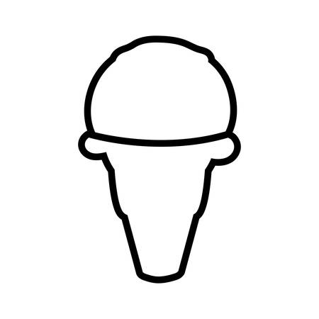 sorbet: Dessert and sweet concept represented by ice cream icon. Isolated and flat illustration Illustration