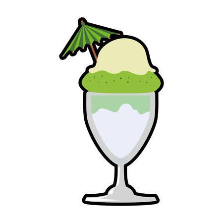 Dessert and sweet concept represented by cup of ice cream icon. Isolated and flat illustration