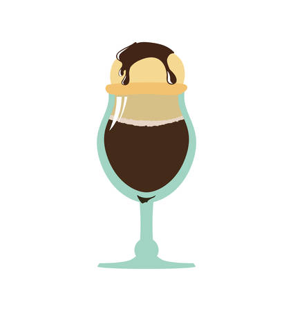 frozen treat: Dessert and sweet concept represented by cup of ice cream icon. Isolated and flat illustration