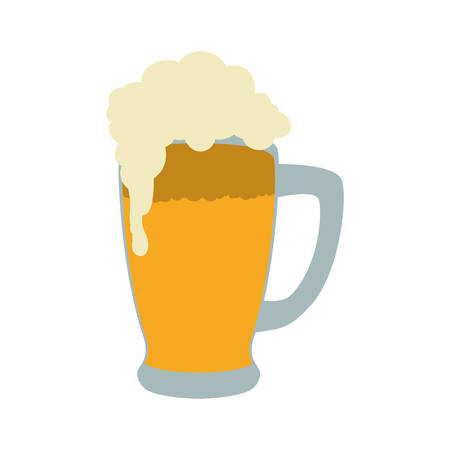 Drink and alcohol concept represented by beer glass icon. Isolated and flat illustration