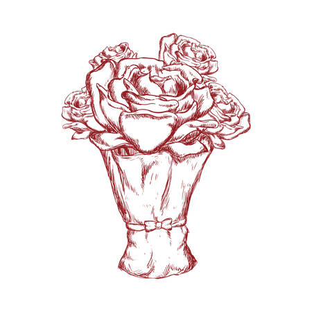 decoraton: Nature garden decoraton concept represented by rose flower icon. Isolated and flat illustration
