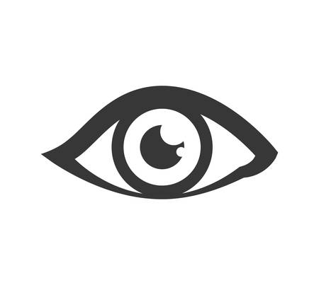 View and look concept represented by eye icon. Isolated and flat illustration Illustration