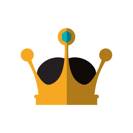 royalty: Crown royal king gold icon. Royalty concept. Isolated and flat illustration. Vector graphic Illustration