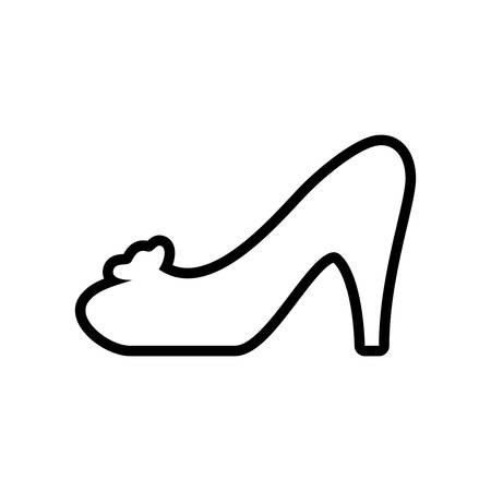 heel shoe fashion cloth icon. Shopping commerce concept. Isolated and flat illustration. Vector graphic Illustration