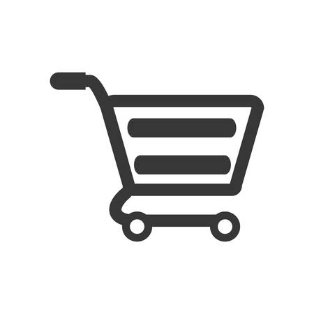 Shopping cart market store buy icon. Shopping commerce concept. Isolated and flat illustration. Vector graphic Illustration
