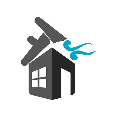 twister: twister house home insurance accident protection icon. Isolated and flat illustration. Vector graphic