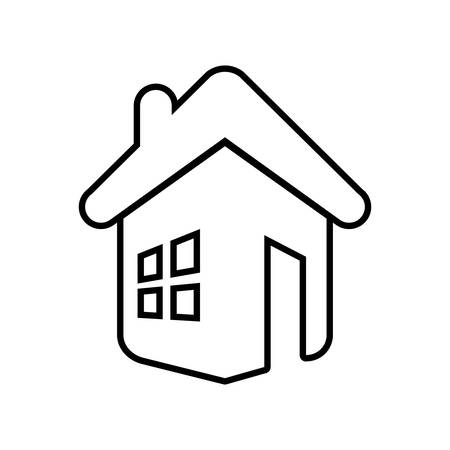 luxury house exterior: house home real estate residential icon. Isolated and flat illustration. Vector graphic Illustration