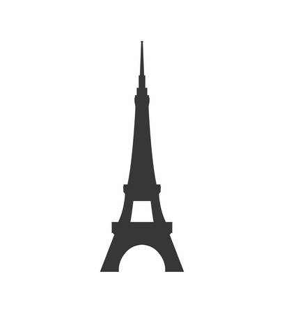 french culture: eiffel tower building paris france icon. Isolated and flat illustration. Vector graphic Illustration