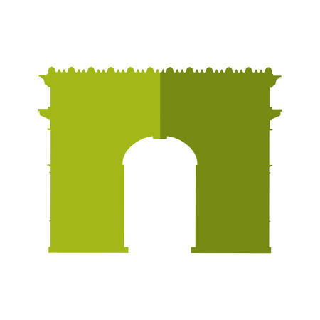 the triumph: arch of triumph paris france building icon. Isolated and flat illustration. Vector graphic