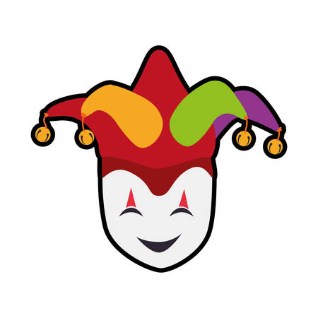argyle: hat arlequin carnival celebration icon. Festival concept.  Isolated and flat illustration. Vector graphic Illustration