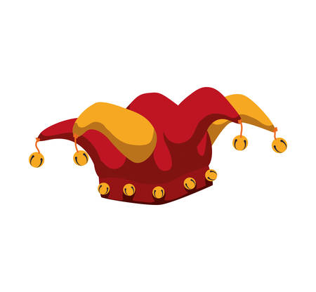 hat arlequin carnival celebration icon. Festival concept.  Isolated and flat illustration. Vector graphic Illustration