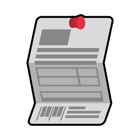 piece of paper: piece paper document banner icon. Information concept.  Isolated and flat illustration. Vector graphic