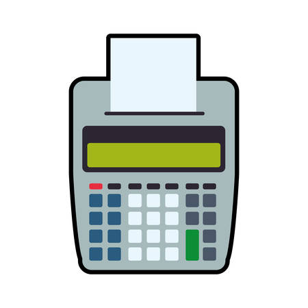 financial item: dataphone money payment financial item buy icon. Isolated and flat illustration. Vector graphic Illustration