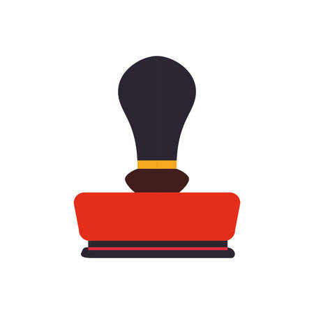 office machine: seal office machine label antique icon. Isolated and flat illustration. Vector graphic
