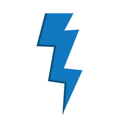 climate: blue thunder weather climate battery icon. Isolated and flat illustration. Vector graphic