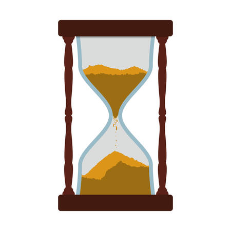 old time: hourglass time antique old measure icon. Isolated and flat illustration. Vector graphic