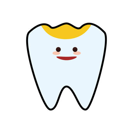 tooth cartoon dental care health hygiene icon. Isolated and flat illustration. Vector graphic