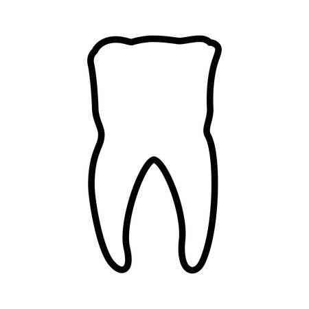 doctor appointment: tooth dental care health hygiene icon. Isolated and flat illustration. Vector graphic Illustration
