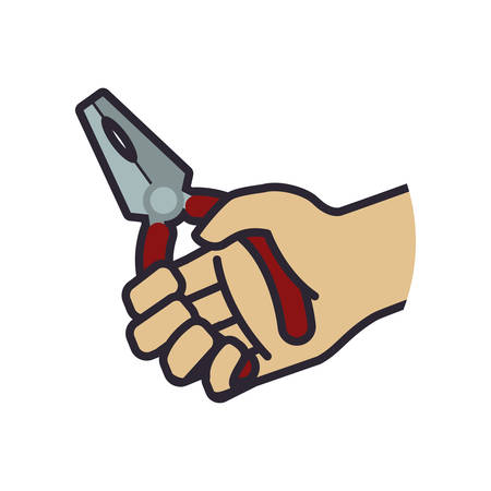 recover: pliers tool repair construction industrial icon. Isolated and flat illustration. Vector graphic