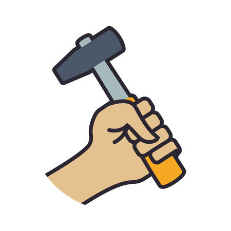 recover: hammer tool repair construction industrial icon. Isolated and flat illustration. Vector graphic