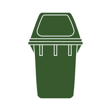 basura organica: papelera de reciclaje icono de la ecolog�a org�nica. ilustraci�n y plana. gr�fico vectorial