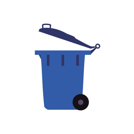 basura organica: trash recycle organic ecology icon. Isolated and flat illustration. Vector graphic