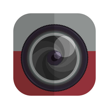 digicam: camera focus gadget technology icon. Isolated and flat illustration. Vector graphic Illustration