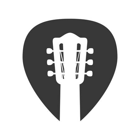 string instrument: guitar string instrument music icon. Isolated and flat illustration. Vector graphic Illustration