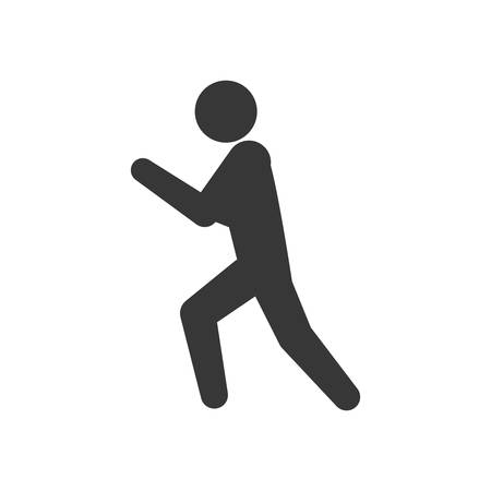silhouete: pictogram action silhouette move icon. Isolated and flat illustration. Vector graphic Illustration