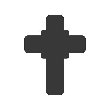 belief: cross shape god belief religion icon. Isolated and flat illustration. Vector graphic