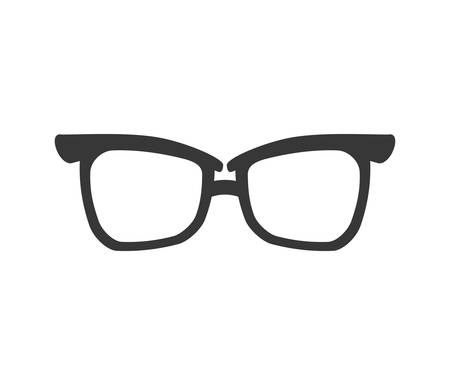 accesory: glasses traditional fashion icon. Accesory concept.  Isolated and flat illustration. Vector graphic