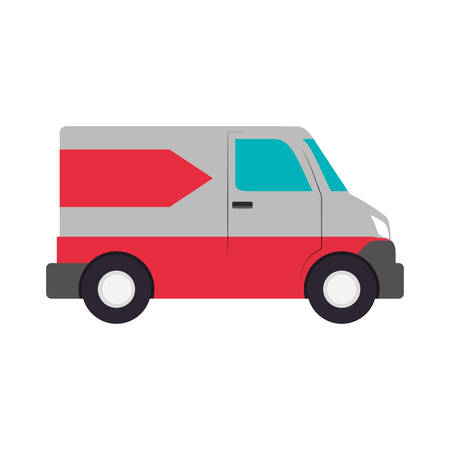 lorries: truck transportation delivery shipping icon. Isolated and flat illustration. Vector graphic