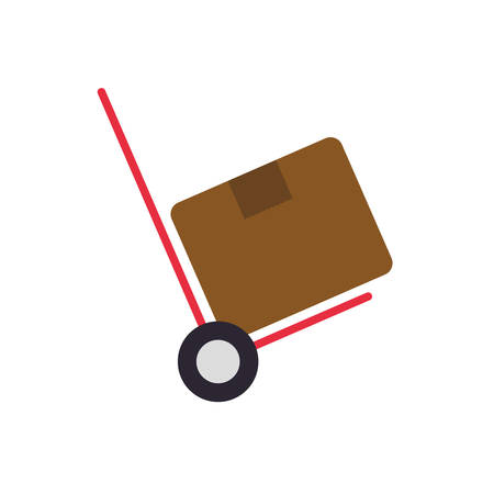 package box cart delivery shipping icon. Isolated and flat illustration. Vector graphic Illustration