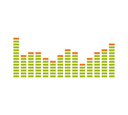 graphic equalizer: Equalizer music sound studio wave icon. Isolated and flat illustration. Vector graphic