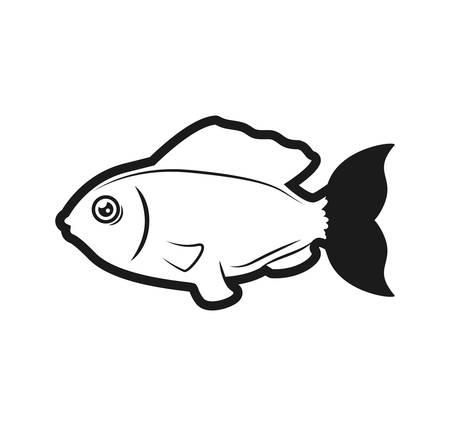 aquatic life: fish sea life marine aquatic swim icon. Isolated and flat illustration. Vector graphic