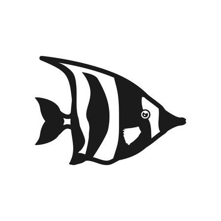 submerged: fish sea life marine aquatic swim icon. Isolated and flat illustration. Vector graphic