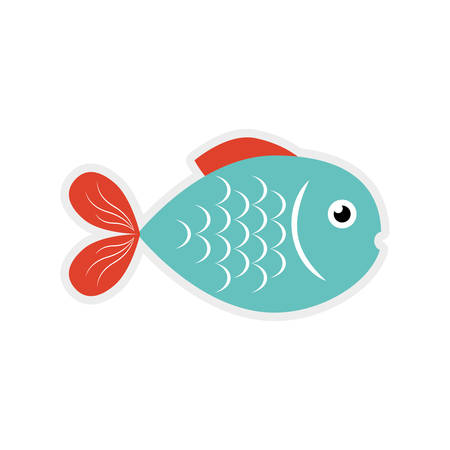 aquatic: fish sea life marine aquatic swim icon. Isolated and flat illustration. Vector graphic