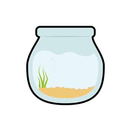 aquatic life: bowl fish pet life marine aquatic swim icon. Isolated and flat illustration. Vector graphic Illustration