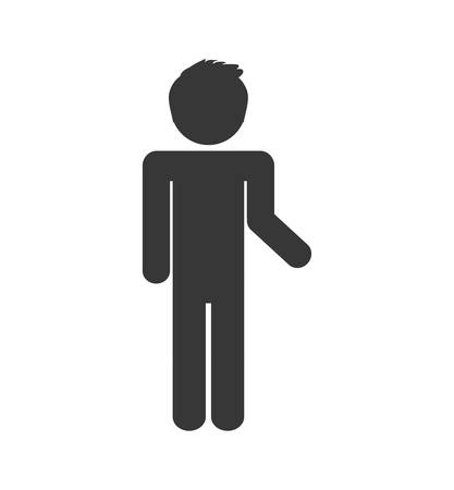employers: pictogram action male man silhouette social media icon. Isolated and flat illustration. Vector graphic