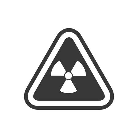 biohazard sign: biohazard sign triangle warning icon. Isolated and flat illustration. Vector graphic