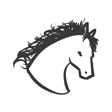 animal silhouette: horse animal animal silhouette icon. Isolated and flat illustration. Vector graphic