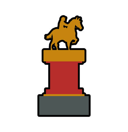 ridding: trophy horse animal ridding sport hobby icon. Isolated and flat illustration. Vector graphic